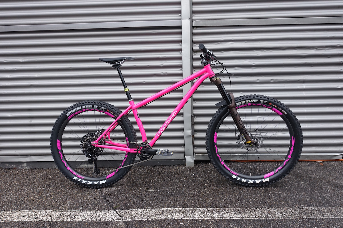 pipedream hardtail steel 27.5 plus 29 pink dvo zelvy