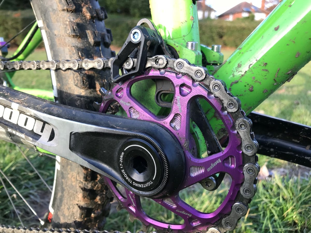 absolute black chainguide chainring hope