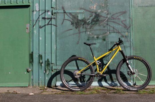 swarf cycles contour steel full suspension uk made mustard